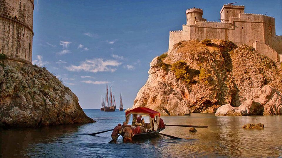 Game of Thrones Dubrovnik West Harbor (Picture: HBO)