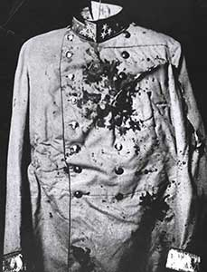 Franz Ferdinand's blood-stained uniform.