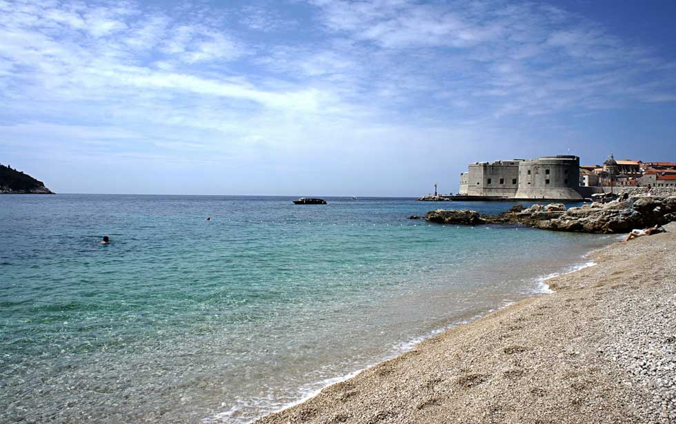 Banje beach in Dubrovnik