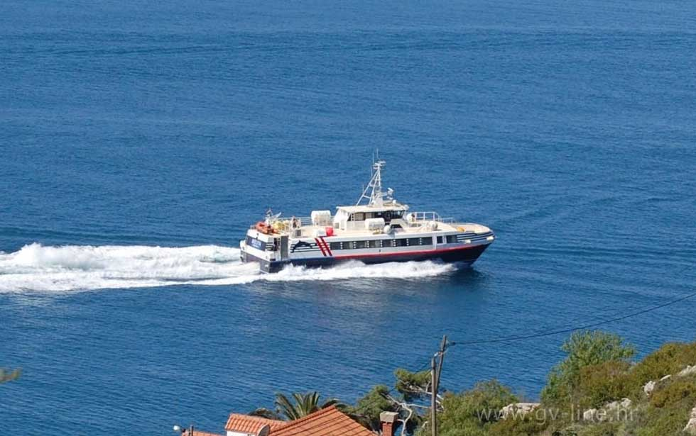 Dubrovnik to Mljet and Lastovo catamaran (2019 timetable)