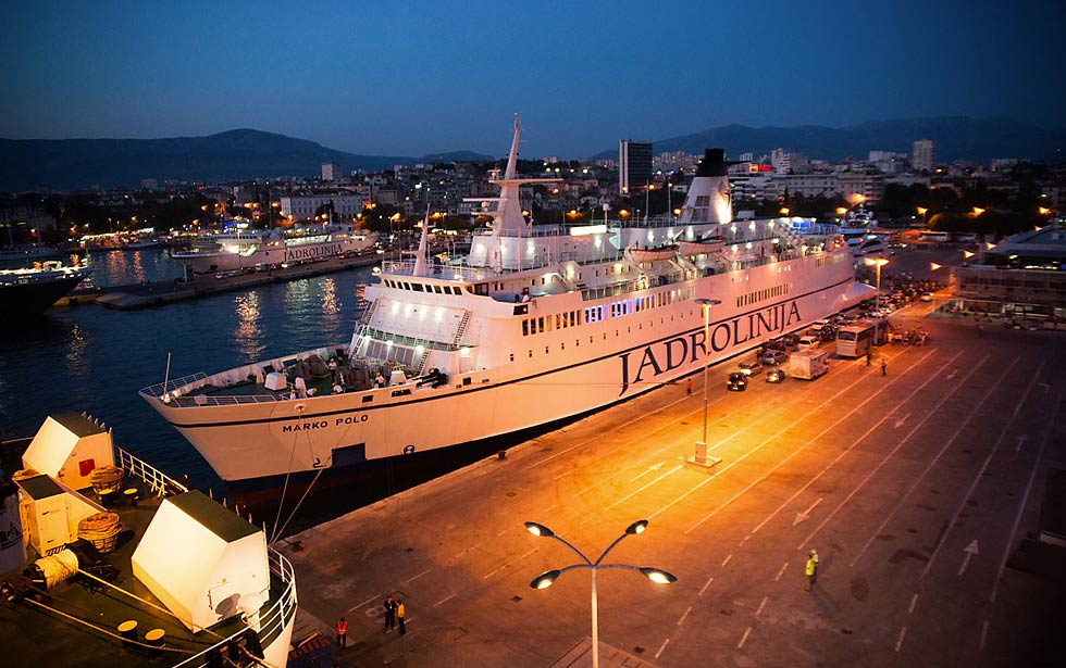 Split to Ancona ferry (2018 timetable)